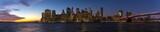 Panorama - New York City Skyline im Sonnenuntergang - High Resolution - 196156370