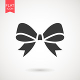 Fototapety Bow icon in trendy flat style isolated on white background. Ribbon symbol for your web site design, logo, app, UI. Vector illustration, EPS10