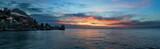 Sea sunrise in Gurzuf, Crimea panorama