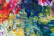 "Постер, картина, фотообои ""close up of art palette with colorful paint"""