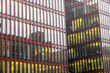 Abstrakte Fassade eines modernen Bürogebäudes in Hamburg, Deutschland - 196171502