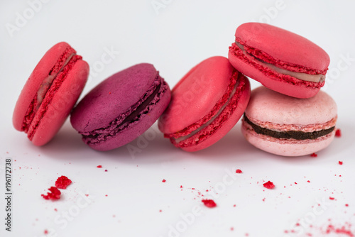 macarons on a light background Poster