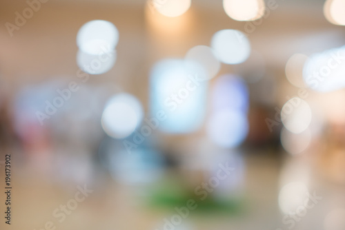 Foto Murales Store, shopping mall abstract defocused blurred background