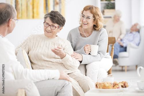Seniors in rest home