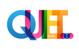 QUIET Colourful Letters Icon - 196178563