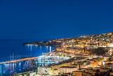 Napoli dall'alto di notte