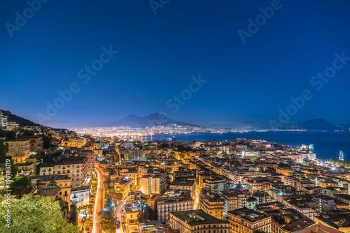 Napels Napoli dall'alto di notte
