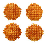 Sweet waffles set isolated on white background - 196186311