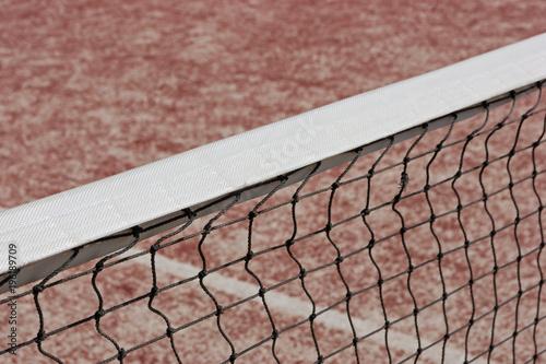 Aluminium Tennis Tennis court net close up