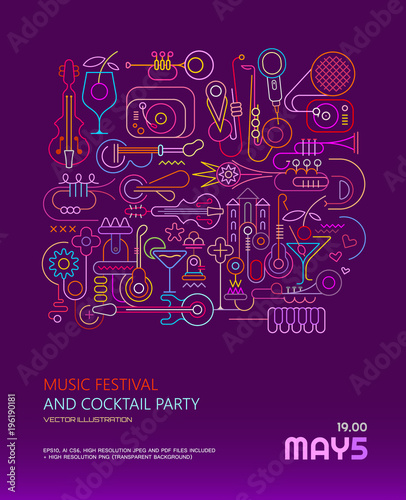 Aluminium Abstractie Art Music Festival and Cocktail Party poster