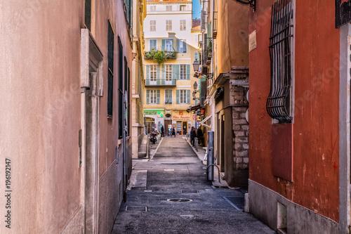 Wall Murals Narrow alley Nice Côte d'Azur, France