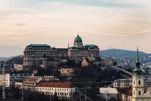 Foto op Canvas Boedapest Castle on the hill