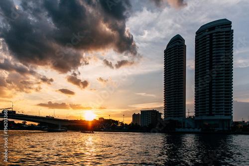 Foto op Canvas Bangkok Urban setting