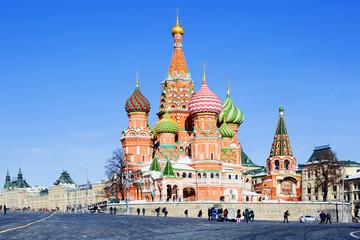 Москва, Россия, Храм Василия Блаженного на Красной площади.