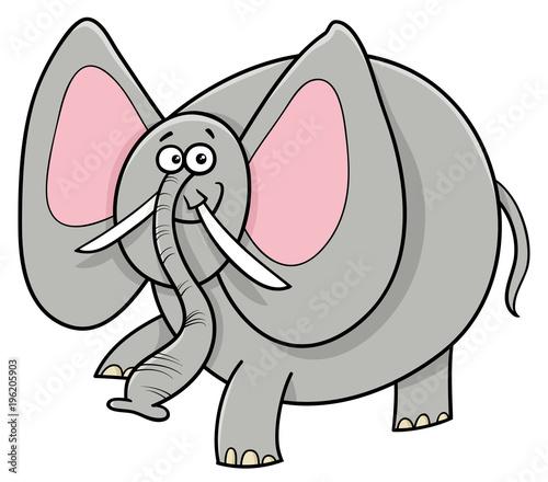 Fototapeta African elephant animal cartoon character
