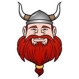 Viking with Beard - A vector cartoon illustration of a Viking with a Beard. - 196212130