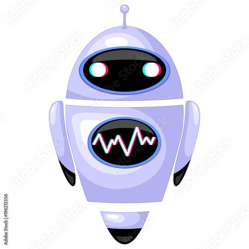Poster Draw Robot Android Humanoid Cartoon Character