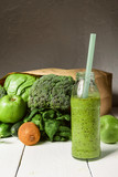 smoothies with vegetables. sports nutrition