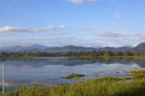 sri lankan lustro jezioro w wasgamuwa national park