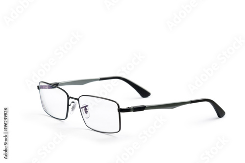 3c1ff49ecb Corrective eye glasses with thin rims isolated on white background ...
