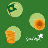 Good luck and saint patricks day symbols - 196244105