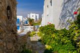 Mykonos. The old street in Chora. - 196248737