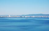 Panoramic view of the coast of the Bulgarian resort of Sunny Beach. - 196253912