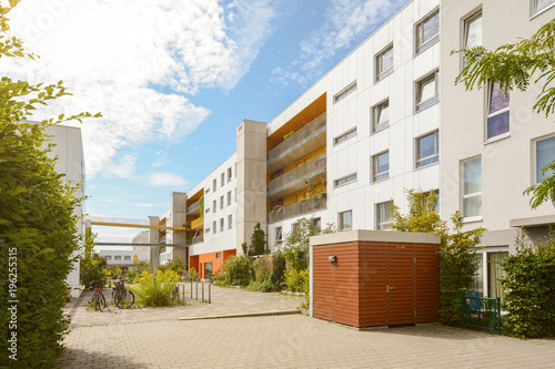 Cityscape with modern apartment buildings in a new residential area © ah_fotobox