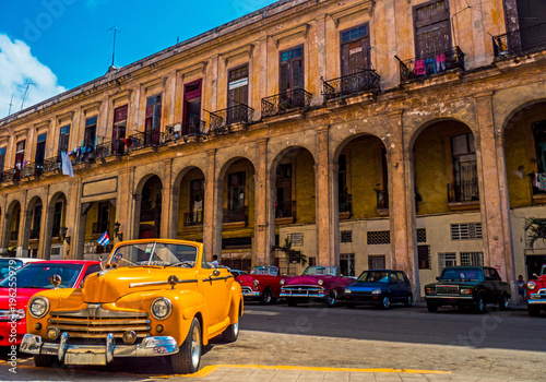 In de dag Havana Oldtimer in Kuba