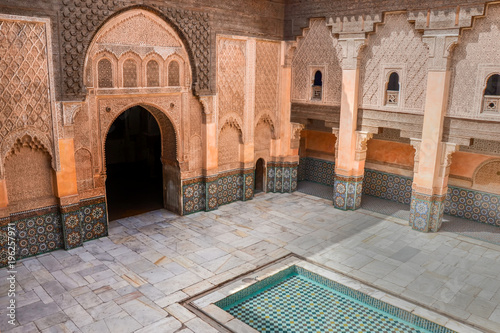 Foto op Plexiglas Marokko Ben Youssef Madrasa