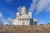 view on Helsinki Cathedral (Helsingin tuomiokirkko Nikolainkirkko), Helsinki, Finland - 196266528