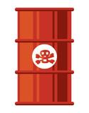 Toxic waste barrel icon over white background, colorful design. vector illustration - 196266900