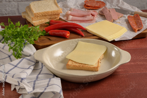 Francesinha on plate preparations
