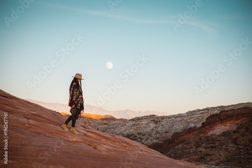 Foto op Canvas Diepbruine Reach for the moon