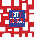 Illustration of city block pattern - 196273555