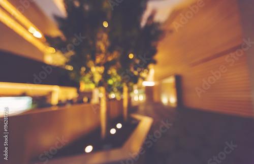 Defocused blurred view of a large inteior building
