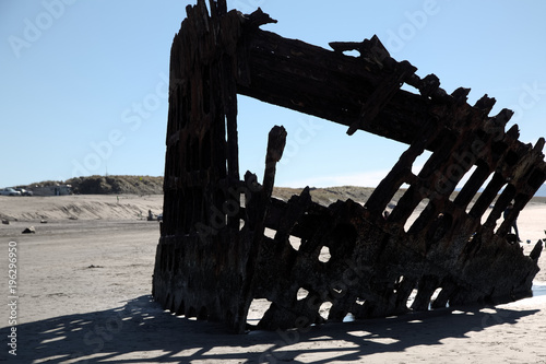 Foto op Aluminium Schipbreuk Wreck of the Peter Iredale