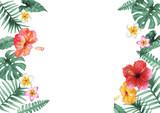 南国 ハワイ 植物フレーム - 196303327
