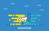 donation vector icon