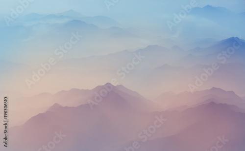 Aluminium Galyna A. Mountains silhouette