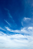 blue sky background with tiny clouds - 196308904