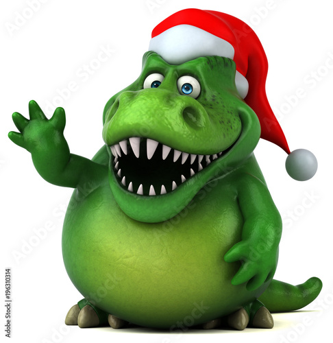 Fototapeta Fun dinosaur- 3D Illustration