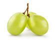 Green grape. Grapes isolated on white. Full depth of field. With clipping path. - 196317382