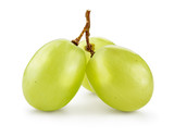 Green grape. Grapes isolated on white. Full depth of field. With clipping path.