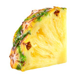 Pineapple slice. Pineapple isolated. With clipping path.