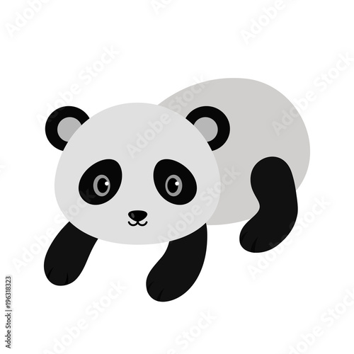 Fototapeta Adorable panda in flat style.