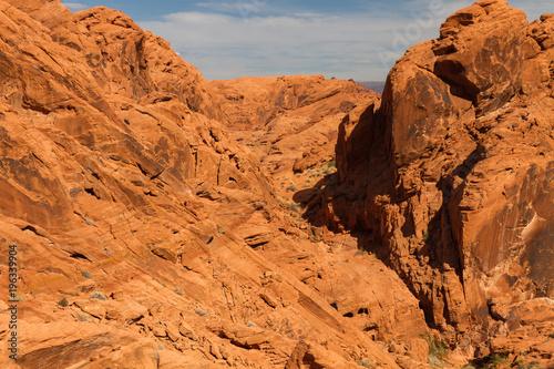 Deurstickers Oranje eclat Valley of Fire 27