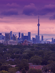 Toronto's skyline, the view from my balcony