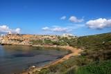 The Ghajn Tuffieha Bay in Malta - 196349315