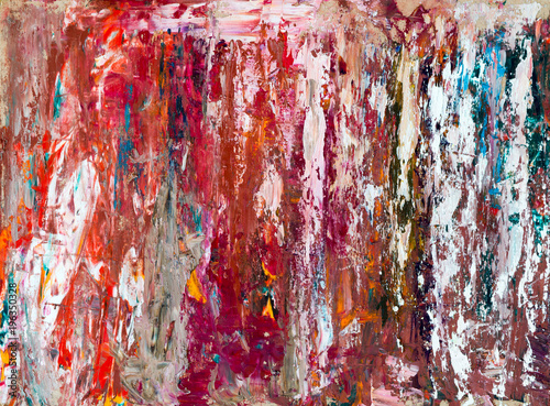 Fotobehang Abstractie размазанная краска на картоне